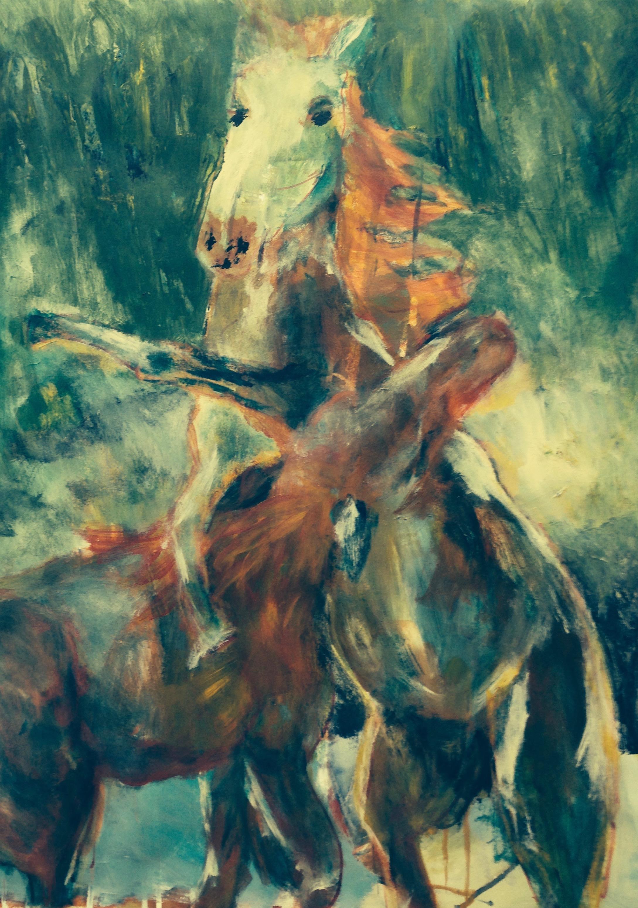 Horses Sparing
